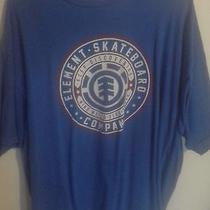 Element Skateboard Company Xl Shirt Blue Photo