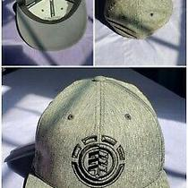 Element Skateboard Fitted Cap Hat Grey Logo 210 Flexfit 6/ - 7/ Preowned Photo