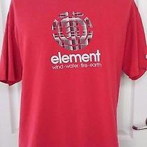 Element Skateboard Gray Plaid Logo Red T Shirt Xl Vintage Retro Rare Photo
