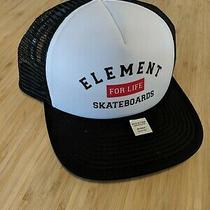 Element Skateboards Black/white Mesh Trucker Cap Snapback Hat New With Tags Photo
