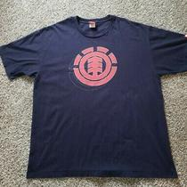 Element Skateboards Earth Wind Water Fire Logo Vintage T Shirt Mens Xl Blue Y2k Photo