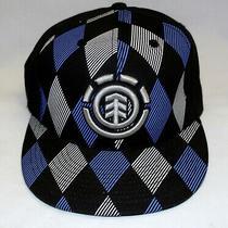 Element Skateboards Tree Logo Blue Harlequin Black Mens 7 5/8 Hat Cap Crowns Photo