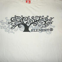 Element Skateboards Tree Logo White Men's Xl Rare T-Shirt Bam Era Photo