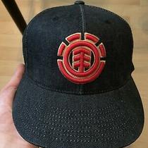 Element Skateboards Vintage Denim Stretch Flexfit Hat Size 7 1/4 Photo
