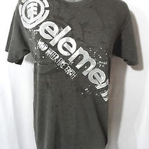 Element Skater Tee Shirt Mens S Gray Graphic Short Sleeve Crew Neck Surf Sport Photo