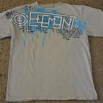 Element Solid Beige Short Sleeve T-Shirt Boys 100% Cotton Size S Everyday Photo