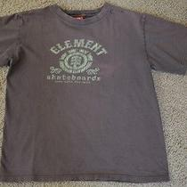 Element Solid Brown Short Sleeve T-Shirt Boys 100% Cotton Size M Everyday Photo