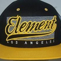 Element Starter Cap Hat New Mens Los Angeles  Black/yellow Flat Brim Skate 1size Photo