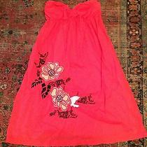 Element Strapless Summer Dress With Pretty Embroidered Flowers M Worn Once Photo