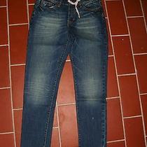 Element Stylische Narrow Boyfriend Jeans Blue Denim Used W27 L31 New Photo