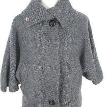 Element Sweater S Womens Gray Knit Cardigan Mohair Blend  Photo
