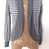 Element Sweater Size Small Cardigan Gray Stripe Cotton Casual Photo