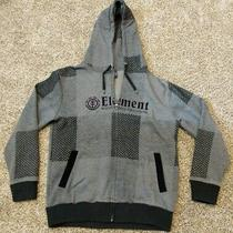 Element Sweatshirt Full Zip Men's Large Grey With Detachable Faux Fur Hood Liner Photo