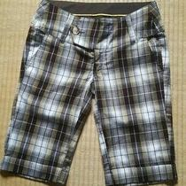 Element Sz 38 (10)  Women's Bermuda Shorts Check (Brownyellow Black White) Photo