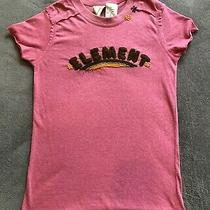 Element T-Shirt Pink W/embroidered Logo Juniors Small Photo