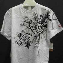 Element Tree Branch Boys M Cotton Short Sleeve Graphic Tee White Logo Kids ylq.1 Photo