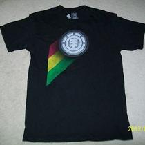 Element Tri Color/black Logo Mens  T-Shirt Medium Euc Photo