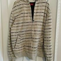 Element White Ivory Brown Hoodie Zip Up Sweatshirt - Size Medium M Photo