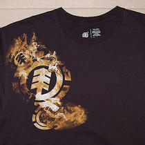 Element / Wind Water Fire Earth / Adult Brown T-Shirt Size Xl Photo