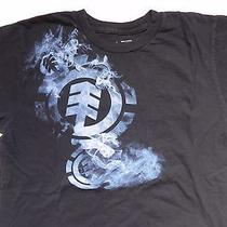 Elementwind Water Fire Earthblack W Blue T-Shirt Men's Size Small Skater Euc Photo