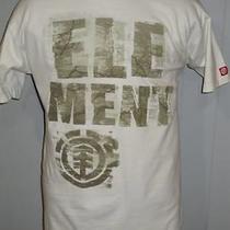 Element Wind Water Fire Earth Logo Sport Surf Wear Cotton  Slim Cut T Shirt L Photo