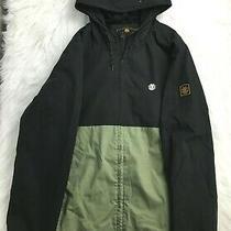 Element Wolfeboro Collection Snowboard Jacket Mens Sz L Black Ski Green Hooded  Photo
