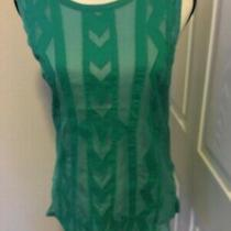 Element Women's Green Sleeveless Tank Top Blouse Size Small -Guc Photo