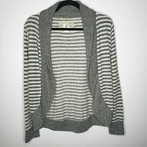 Element Women's Striped French Terry Cardigan Sz S Sweater Skater Zumies Euc Photo