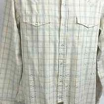 Element Wood & Thread Biege Checks & Plaids Western Shirt Sz M Photo