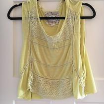 Element Yellow Crochet/lace Flowy Tank  Photo