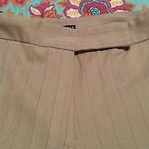 Elemental Stretch Ladies Pants Slacks 14 Tan Pinstripe  Photo