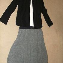 Elemente Clemente Black/white Fold-Over Waist Skirt. Size 3-Large. Beautiful Photo