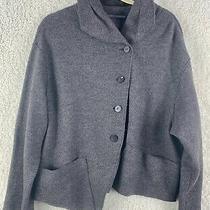 Elemente Clemente Size 2 Virgin Wool Walker Jacket Asymmetrical Gray Photo