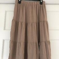 Elements 3 Tiered T Shirt Skirt Tan Size  Xs Nwt Photo
