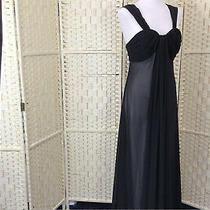 Elements Amanda Wakeley Black Chiffon Grecian Long Special Dress Bnwt Size 14 Photo