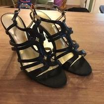 Elements by Nina Black High Heel Strappy Sandals Size 9 Photo