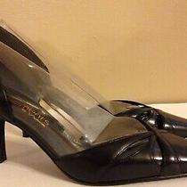 Elements by Nina Black Leather Cut Out Detail Sharp Toe Sexy High Heels 39 Us 9 Photo