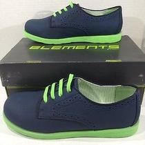 Elements by Nina Boys Devin Navy Oxfords Slip on Shoes Size 4 Y Z7-599 Photo