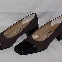 Elements by Nina Shoes Low Heels Sporty Brown Tweed Leather Womens Sz 7 M Nice Photo