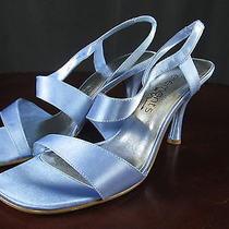 Elements by Nina Women's High Heel Shoes Light Blue Size 7m Open Toe Periwinkle  Photo