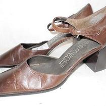 Elements by Nina Womens Brown Leather Heels Shoes 7.5 M Photo