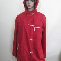 Elements by Utex Red Hooded Removeable Liner Lined Rain Coat Jacket Parka L P Photo