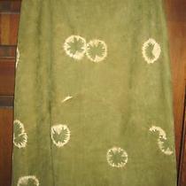 Elements by Vakko Lamb Skin Tie Dye Women's Skirt Size 10  Photo