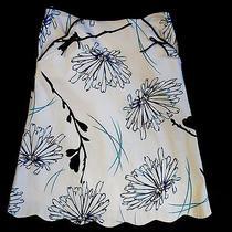 Elements G 4 Pristine Whiteblueblack Floral Scallop Hem Pockets Bows Photo