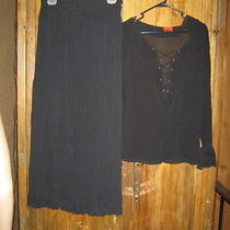Elements Long Black Skirt &  Friends Blouse Size 8 (Dark Black) Photo