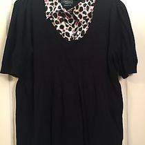 Elements Plus Sized 3x Summer Sweater Black (Like Lane Bryant) Euc Photo