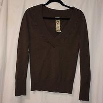 Elements v Neck Sweater Juniuors/womans  Size L  Brown Comfy Photo