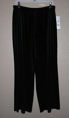 ELEMENTS Velvet Pants Size Large Black Stretch Pull-On Straight Leg MSRP $44 NWT Photo