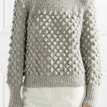 Eleven Six Camilla Pom-Pom Sweater Gray Size M Photo