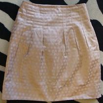 Elevenses Anthropologie Blush Sateen High Waist Skirt 6 Photo
